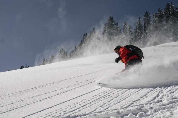 Snowboarden im Powder